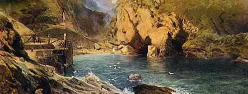 Thomas Moran Tintagel_detail